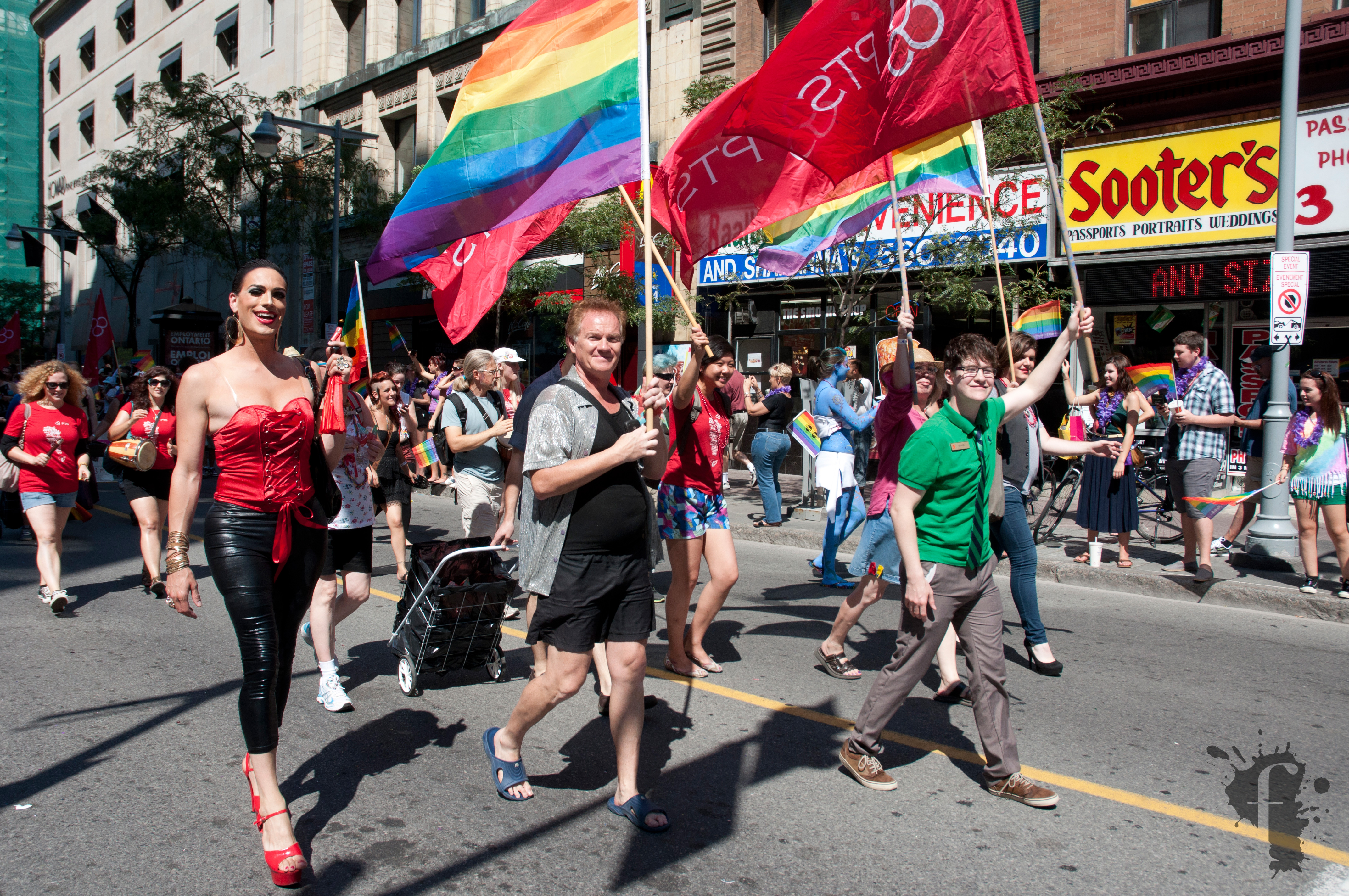 a vibrant gay community