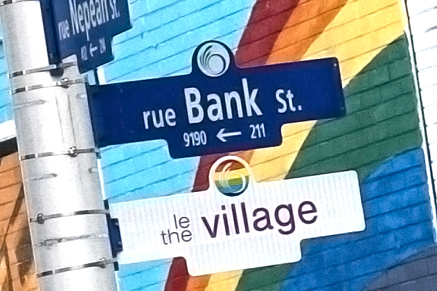 OTTAWA'S GAY VILLAGE on Bank Street is now officially recognized.