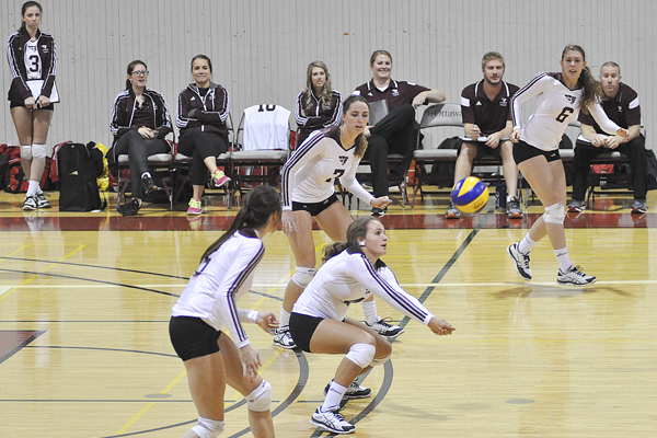 Women's volleyball finishes on a high at nationals